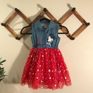Disney | Like New Mickey tulle dress sz 4T